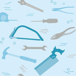 Tools in blue