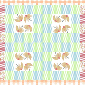 Flossie's Garden Quilt Top (yellow)