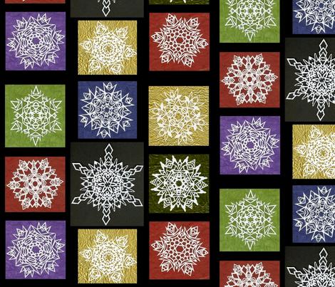 Snowflake Fete fabric by Hazelhills on Spoonflower - custom fabric