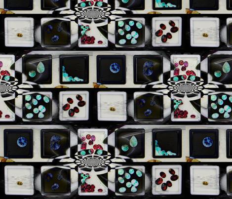 Check B/W Gems fabric by paragonstudios on Spoonflower - custom fabric