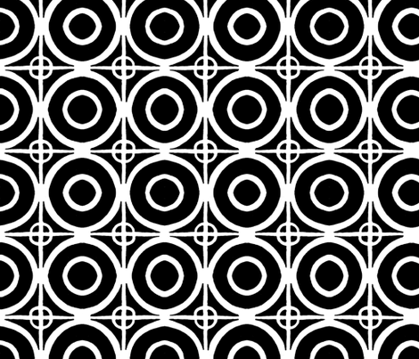 Circles and Squares ~Pop Art~ fabric by elizagraysgoods on Spoonflower - custom fabric