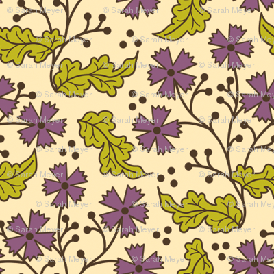 A Few of My Favorite Things - Purple Floral Leaf