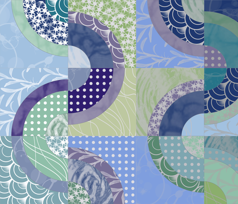 Waves fabric by patchinista on Spoonflower - custom fabric
