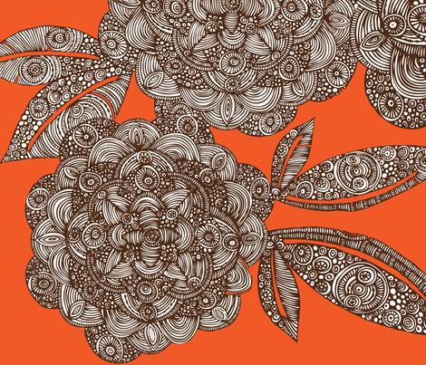 dahlias_valentinaramos fabric by valentinaharper on Spoonflower - custom fabric