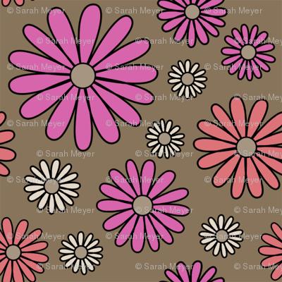 I *Heart* Daisies - focus fabric