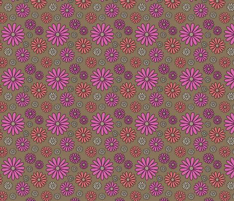 I *Heart* Daisies - focus fabric fabric by sarahb on Spoonflower - custom fabric