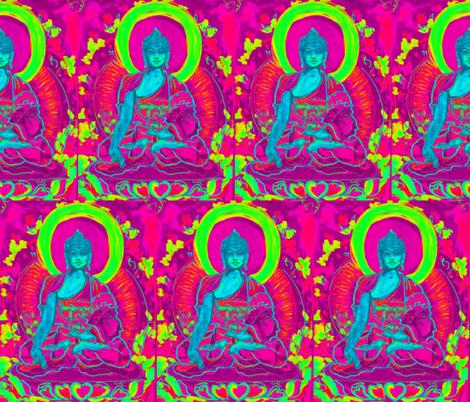 Medicine Buddha-ed fabric by mjw23 on Spoonflower - custom fabric