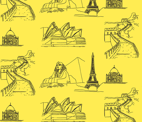 Around the World fabric by blue_jacaranda on Spoonflower - custom fabric
