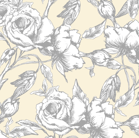 Sterling Roses fabric by pattysloniger on Spoonflower - custom fabric