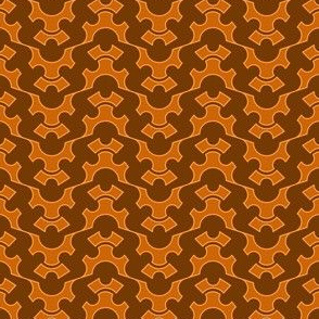 Half Gear And Crown Flipped - Orange Brown