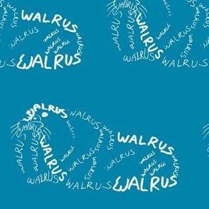 Walrus Calligram