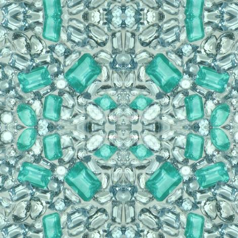 Paraiba Tourmaline fabric by paragonstudios on Spoonflower - custom fabric