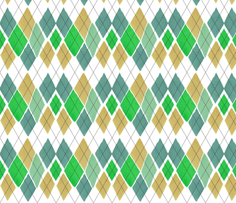 C'EST LA VIV™ ARGYLE & DIAMOND Collection_PAYDAY ARGYLE  fabric by cest_la_viv on Spoonflower - custom fabric
