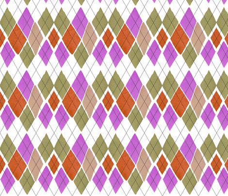 C'EST LA VIV™ ARGYLE & DIAMOND Collection_FRIDAY ARGYLE  fabric by cest_la_viv on Spoonflower - custom fabric