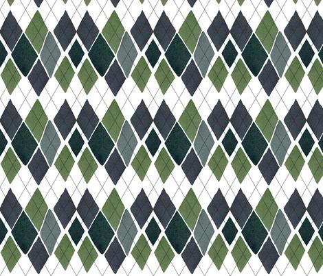 C'EST LA VIV™ ARGYLE & DIAMOND Collection_SUNDAY ARGYLE  fabric by cest_la_viv on Spoonflower - custom fabric