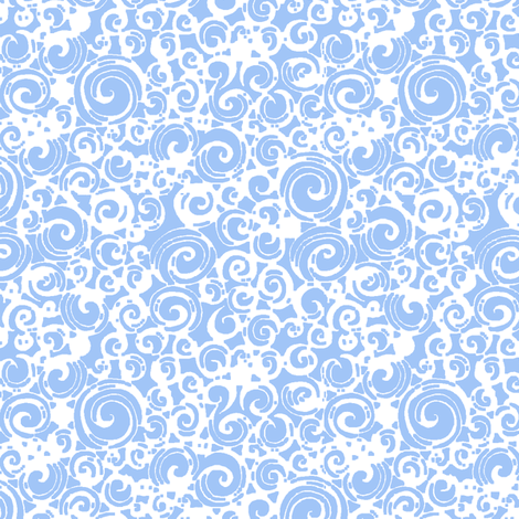 Are You a Hypnotist? (blue/white) fabric by leighr on Spoonflower - custom fabric