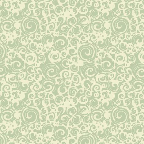 Are You a Hypnotist? (seafoam/cream) fabric by leighr on Spoonflower - custom fabric