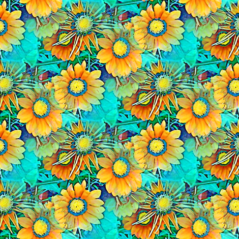 Exploding Suns fabric by nalo_hopkinson on Spoonflower - custom fabric