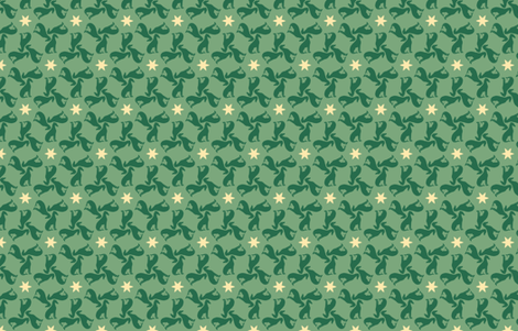 Green Greyhounds gg1 ©2010 by Jane Walker fabric by artbyjanewalker on Spoonflower - custom fabric