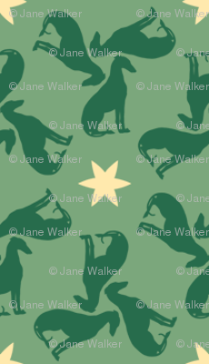 Green Greyhounds gg1s ©2010 by Jane Walker