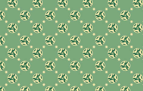 Green Greyhounds gg3s ©2010 by Jane Walker fabric by artbyjanewalker on Spoonflower - custom fabric