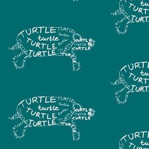 Turtle Calligram