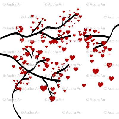 Black Branch Heart Tree