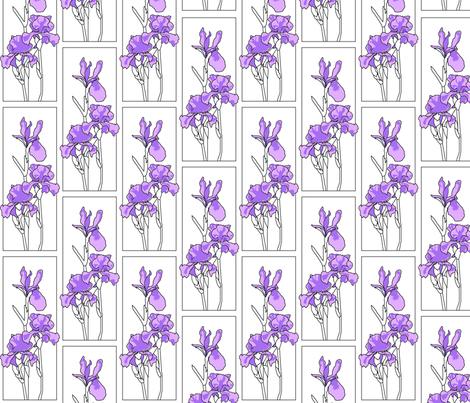irises fabric by lazydee on Spoonflower - custom fabric