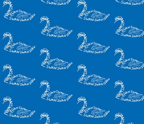 Swan Calligram fabric by blue_jacaranda on Spoonflower - custom fabric