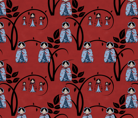 Babooshka_10x10inch_150dpi_seemless_high_res_jpg fabric by kristalclear on Spoonflower - custom fabric