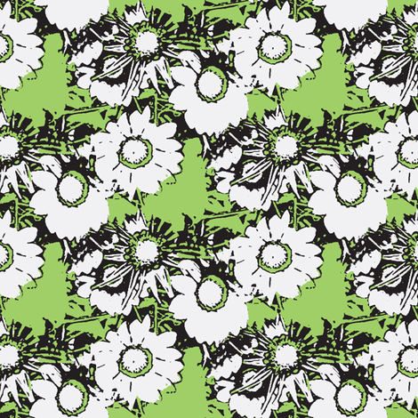 Starburst Print Green and Grey fabric by nalo_hopkinson on Spoonflower - custom fabric