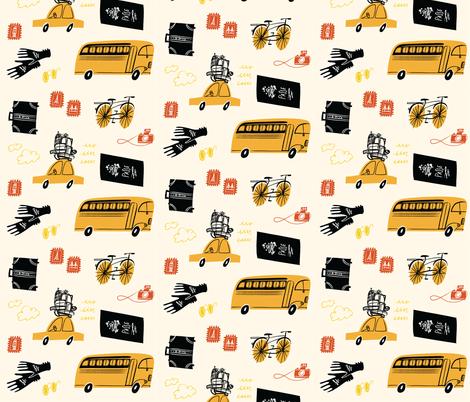 Bon Voyage fabric by dwelldeep on Spoonflower - custom fabric