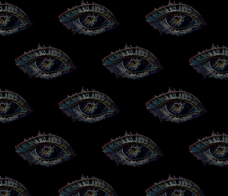 eye spy black_fabric fabric by farrellart on Spoonflower - custom fabric
