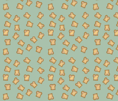 Toast fabric by lisaorgler on Spoonflower - custom fabric