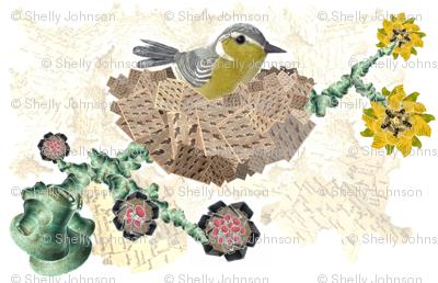 Bird in Nest Collage No. 1.2