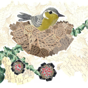 Bird in Nest Collage No. 1.2