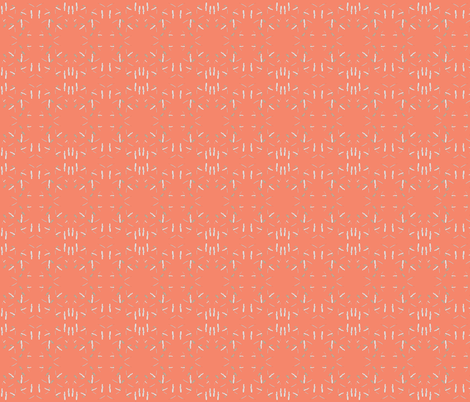 Geometric Pink Feather fabric by nature_guild on Spoonflower - custom fabric