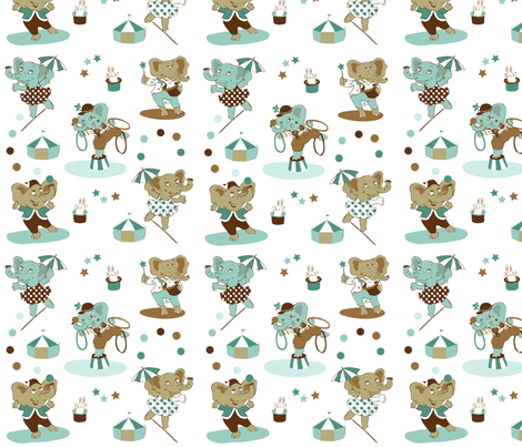 We'll give you our best show these elephants say fabric by peikonpoika{by}brunou on Spoonflower - custom fabric