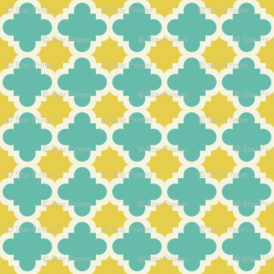 burst lemon and teal