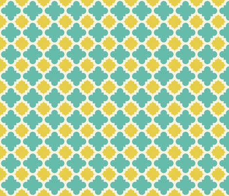 burst lemon and teal fabric by mytinystar on Spoonflower - custom fabric