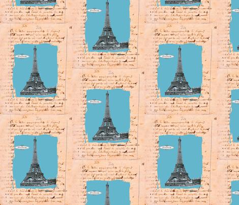 French Homework Dreams Paris fabric by karenharveycox on Spoonflower - custom fabric