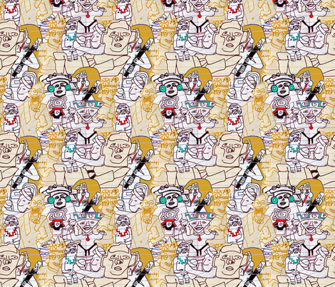 Mesoamerican Idols fabric by patternbase on Spoonflower - custom fabric