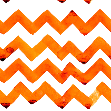 C'EST LA VIV™  NEWEST ZIGZAG TANGERINE fabric by @vivsfabulousmess on Spoonflower - custom fabric