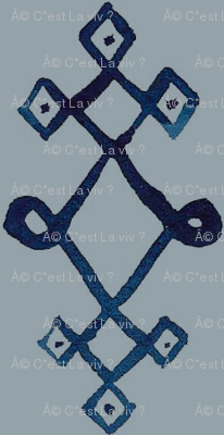 cestlaviv_mystical knot [blue on gray]
