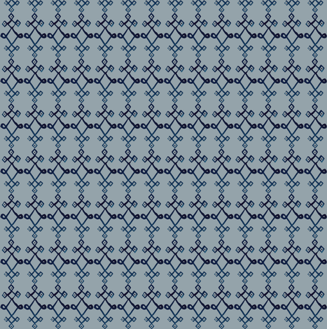 cestlaviv_mystical knot [blue on gray] fabric by cest_la_viv on Spoonflower - custom fabric