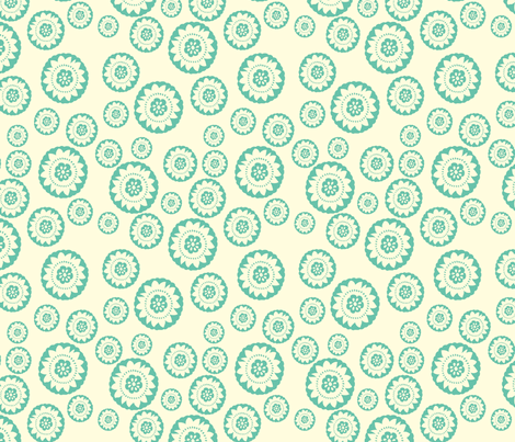Turquoise medallion small fabric by crimsonpear on Spoonflower - custom fabric