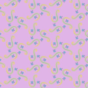 Small Paisley - Purple Ground