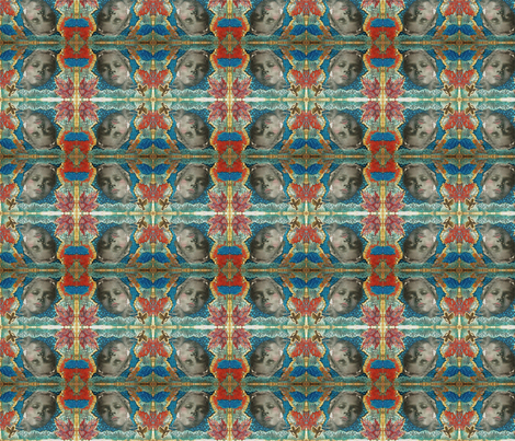 Box_for_Teal fabric by artbynancy on Spoonflower - custom fabric