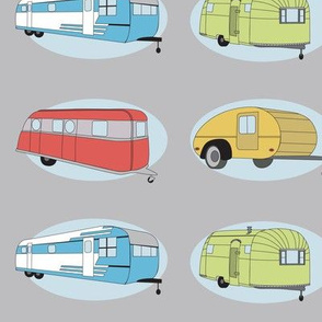 Retro Travel in Light Gray