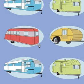 Retro Travel in Periwinkle
